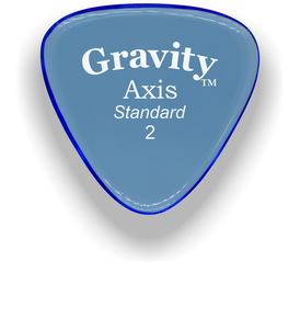 Axis Standard 2.0mm Blue Acrylic Guitar Pick Handmade Custom Best Acoustic Mandolin Electric Ukulele Bass Plectrum Bright Loud Faster Speed
