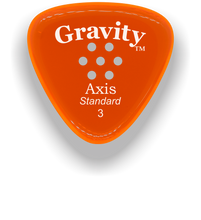 Load image into Gallery viewer, Axis Standard 3.0mm Orange Multi-Hole Grip Acrylic Guitar Pick Handmade Custom Best Acoustic Mandolin Electric Ukulele Bass Plectrum Bright Loud Faster Speed