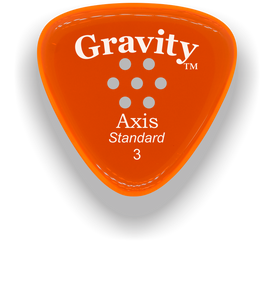 Axis Standard 3.0mm Orange Multi-Hole Grip Acrylic Guitar Pick Handmade Custom Best Acoustic Mandolin Electric Ukulele Bass Plectrum Bright Loud Faster Speed