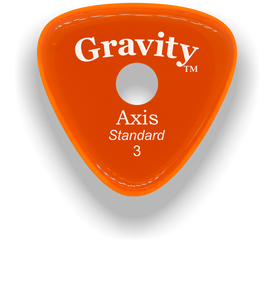 Axis Standard 3.0mm Orange Single Round Grip Acrylic Guitar Pick Handmade Custom Best Acoustic Mandolin Electric Ukulele Bass Plectrum Bright Loud Faster Speed
