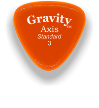 Load image into Gallery viewer, Axis Standard 3.0mm Orange Acrylic Guitar Pick Handmade Custom Best Acoustic Mandolin Electric Ukulele Bass Plectrum Bright Loud Faster Speed