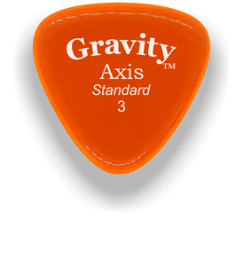 Axis Standard 3.0mm Orange Acrylic Guitar Pick Handmade Custom Best Acoustic Mandolin Electric Ukulele Bass Plectrum Bright Loud Faster Speed