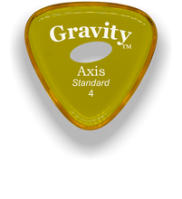 Load image into Gallery viewer, Axis Standard 4.0mm Yellow Elipse Grip Acrylic Guitar Pick Handmade Custom Best Acoustic Mandolin Electric Ukulele Bass Plectrum Bright Loud Faster Speed