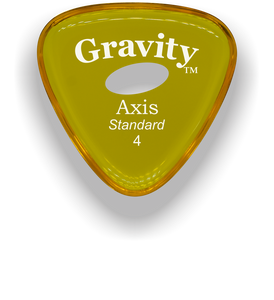Axis Standard 4.0mm Yellow Elipse Grip Acrylic Guitar Pick Handmade Custom Best Acoustic Mandolin Electric Ukulele Bass Plectrum Bright Loud Faster Speed