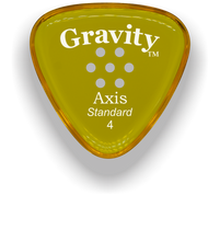 Load image into Gallery viewer, Axis Standard 4.0mm Yellow Multi-Hole Grip Acrylic Guitar Pick Handmade Custom Best Acoustic Mandolin Electric Ukulele Bass Plectrum Bright Loud Faster Speed