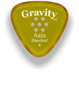 Axis Standard 4.0mm Yellow Multi-Hole Grip Acrylic Guitar Pick Handmade Custom Best Acoustic Mandolin Electric Ukulele Bass Plectrum Bright Loud Faster Speed