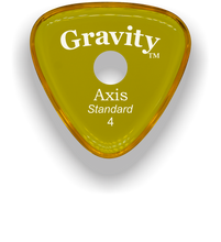 Load image into Gallery viewer, Axis Standard 4.0mm Yellow Single Round Grip Acrylic Guitar Pick Handmade Custom Best Acoustic Mandolin Electric Ukulele Bass Plectrum Bright Loud Faster Speed