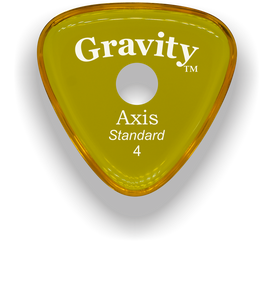 Axis Standard 4.0mm Yellow Single Round Grip Acrylic Guitar Pick Handmade Custom Best Acoustic Mandolin Electric Ukulele Bass Plectrum Bright Loud Faster Speed