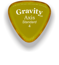 Load image into Gallery viewer, Axis Standard 4.0mm Yellow Acrylic Guitar Pick Handmade Custom Best Acoustic Mandolin Electric Ukulele Bass Plectrum Bright Loud Faster Speed