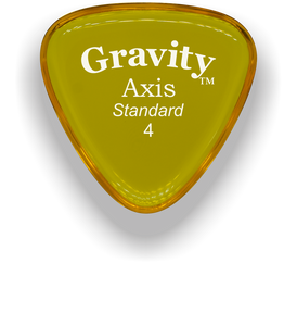 Axis Standard 4.0mm Yellow Acrylic Guitar Pick Handmade Custom Best Acoustic Mandolin Electric Ukulele Bass Plectrum Bright Loud Faster Speed