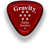 Load image into Gallery viewer, Axis Standard 6.0mm Red Multi-Hole Grip Acrylic Guitar Pick Handmade Custom Best Acoustic Mandolin Electric Ukulele Bass Plectrum Bright Loud Faster Speed