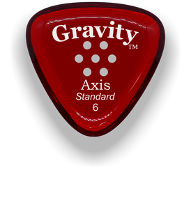 Axis Standard 6.0mm Red Multi-Hole Grip Acrylic Guitar Pick Handmade Custom Best Acoustic Mandolin Electric Ukulele Bass Plectrum Bright Loud Faster Speed