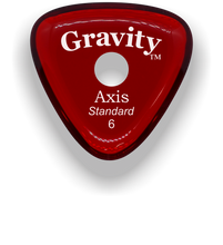 Load image into Gallery viewer, Axis Standard 6.0mm Red Single Round Grip Acrylic Guitar Pick Handmade Custom Best Acoustic Mandolin Electric Ukulele Bass Plectrum Bright Loud Faster Speed