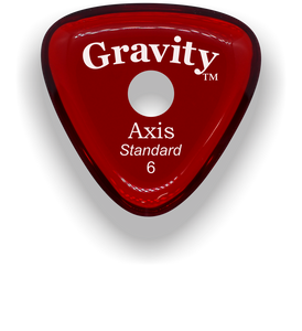 Axis Standard 6.0mm Red Single Round Grip Acrylic Guitar Pick Handmade Custom Best Acoustic Mandolin Electric Ukulele Bass Plectrum Bright Loud Faster Speed