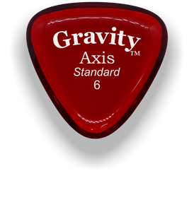 Axis Standard 6.0mm Red Acrylic Guitar Pick Handmade Custom Best Acoustic Mandolin Electric Ukulele Bass Plectrum Bright Loud Faster Speed