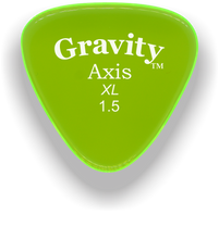 Load image into Gallery viewer, Axis XL 1.5mm Fluorescent Green Acrylic Guitar Pick Handmade Custom Best Acoustic Mandolin Electric Ukulele Bass Plectrum Bright Loud Faster Speed