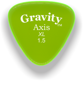 Axis XL 1.5mm Fluorescent Green Acrylic Guitar Pick Handmade Custom Best Acoustic Mandolin Electric Ukulele Bass Plectrum Bright Loud Faster Speed