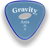 Load image into Gallery viewer, Axis XL 2.0mm Blue Elipse Grip Acrylic Guitar Pick Handmade Custom Best Acoustic Mandolin Electric Ukulele Bass Plectrum Bright Loud Faster Speed