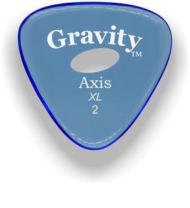 Axis XL 2.0mm Blue Elipse Grip Acrylic Guitar Pick Handmade Custom Best Acoustic Mandolin Electric Ukulele Bass Plectrum Bright Loud Faster Speed