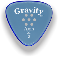 Load image into Gallery viewer, Axis XL 2.0mm Blue Multi-Hole Grip Acrylic Guitar Pick Handmade Custom Best Acoustic Mandolin Electric Ukulele Bass Plectrum Bright Loud Faster Speed