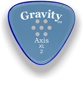 Axis XL 2.0mm Blue Multi-Hole Grip Acrylic Guitar Pick Handmade Custom Best Acoustic Mandolin Electric Ukulele Bass Plectrum Bright Loud Faster Speed