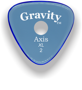 Axis XL 2.0mm Blue Single Round Grip Acrylic Guitar Pick Handmade Custom Best Acoustic Mandolin Electric Ukulele Bass Plectrum Bright Loud Faster Speed