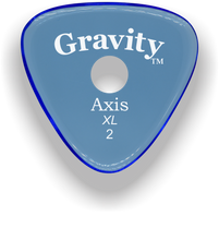 Load image into Gallery viewer, Axis XL 2.0mm Blue Single Round Grip Acrylic Guitar Pick Handmade Custom Best Acoustic Mandolin Electric Ukulele Bass Plectrum Bright Loud Faster Speed