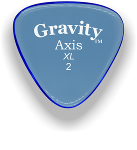 Axis XL 2.0mm Blue Acrylic Guitar Pick Handmade Custom Best Acoustic Mandolin Electric Ukulele Bass Plectrum Bright Loud Faster Speed