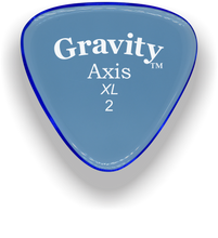 Load image into Gallery viewer, Axis XL 2.0mm Blue Acrylic Guitar Pick Handmade Custom Best Acoustic Mandolin Electric Ukulele Bass Plectrum Bright Loud Faster Speed