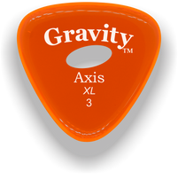Load image into Gallery viewer, Axis XL 3.0mm Orange Elipse Grip Acrylic Guitar Pick Handmade Custom Best Acoustic Mandolin Electric Ukulele Bass Plectrum Bright Loud Faster Speed