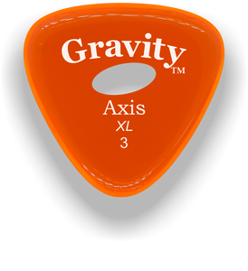 Axis XL 3.0mm Orange Elipse Grip Acrylic Guitar Pick Handmade Custom Best Acoustic Mandolin Electric Ukulele Bass Plectrum Bright Loud Faster Speed