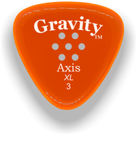 Load image into Gallery viewer, Axis XL 3.0mm Orange Multi-Hole Grip Acrylic Guitar Pick Handmade Custom Best Acoustic Mandolin Electric Ukulele Bass Plectrum Bright Loud Faster Speed