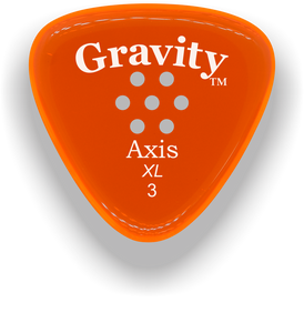 Axis XL 3.0mm Orange Multi-Hole Grip Acrylic Guitar Pick Handmade Custom Best Acoustic Mandolin Electric Ukulele Bass Plectrum Bright Loud Faster Speed