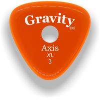 Load image into Gallery viewer, Axis XL 3.0mm Orange Single Round Grip Acrylic Guitar Pick Handmade Custom Best Acoustic Mandolin Electric Ukulele Bass Plectrum Bright Loud Faster Speed