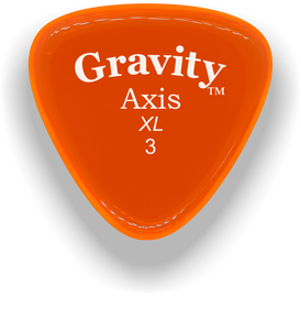 Axis XL 3.0mm Orange Acrylic Guitar Pick Handmade Custom Best Acoustic Mandolin Electric Ukulele Bass Plectrum Bright Loud Faster Speed