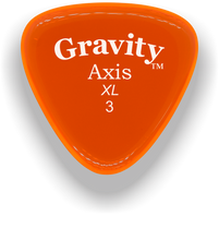 Load image into Gallery viewer, Axis XL 3.0mm Orange Acrylic Guitar Pick Handmade Custom Best Acoustic Mandolin Electric Ukulele Bass Plectrum Bright Loud Faster Speed