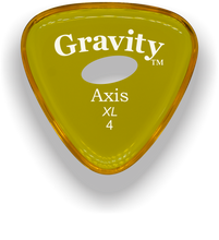 Load image into Gallery viewer, Axis XL 4.0mm Yellow Elipse Grip Acrylic Guitar Pick Handmade Custom Best Acoustic Mandolin Electric Ukulele Bass Plectrum Bright Loud Faster Speed
