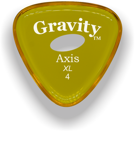 Axis XL 4.0mm Yellow Elipse Grip Acrylic Guitar Pick Handmade Custom Best Acoustic Mandolin Electric Ukulele Bass Plectrum Bright Loud Faster Speed