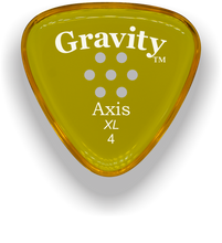 Load image into Gallery viewer, Axis XL 4.0mm Yellow Multi-Hole Grip Acrylic Guitar Pick Handmade Custom Best Acoustic Mandolin Electric Ukulele Bass Plectrum Bright Loud Faster Speed