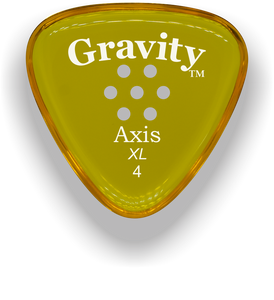 Axis XL 4.0mm Yellow Multi-Hole Grip Acrylic Guitar Pick Handmade Custom Best Acoustic Mandolin Electric Ukulele Bass Plectrum Bright Loud Faster Speed