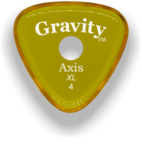 Load image into Gallery viewer, Axis XL 4.0mm Yellow Single Round Grip Acrylic Guitar Pick Handmade Custom Best Acoustic Mandolin Electric Ukulele Bass Plectrum Bright Loud Faster Speed