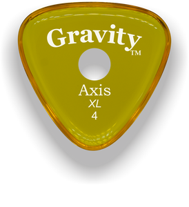 Axis XL 4.0mm Yellow Single Round Grip Acrylic Guitar Pick Handmade Custom Best Acoustic Mandolin Electric Ukulele Bass Plectrum Bright Loud Faster Speed