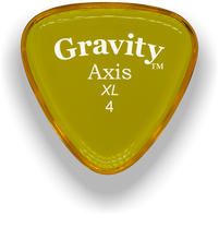 Load image into Gallery viewer, Axis XL 4.0mm Yellow Acrylic Guitar Pick Handmade Custom Best Acoustic Mandolin Electric Ukulele Bass Plectrum Bright Loud Faster Speed