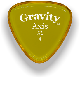 Axis XL 4.0mm Yellow Acrylic Guitar Pick Handmade Custom Best Acoustic Mandolin Electric Ukulele Bass Plectrum Bright Loud Faster Speed