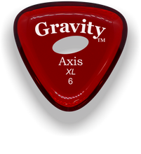 Load image into Gallery viewer, Axis XL 6.0mm Red Elipse Grip Acrylic Guitar Pick Handmade Custom Best Acoustic Mandolin Electric Ukulele Bass Plectrum Bright Loud Faster Speed