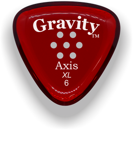Axis XL 6.0mm Red Multi-Hole Grip Acrylic Guitar Pick Handmade Custom Best Acoustic Mandolin Electric Ukulele Bass Plectrum Bright Loud Faster Speed