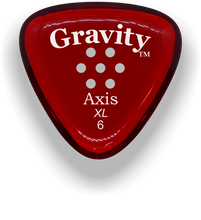 Load image into Gallery viewer, Axis XL 6.0mm Red Multi-Hole Grip Acrylic Guitar Pick Handmade Custom Best Acoustic Mandolin Electric Ukulele Bass Plectrum Bright Loud Faster Speed