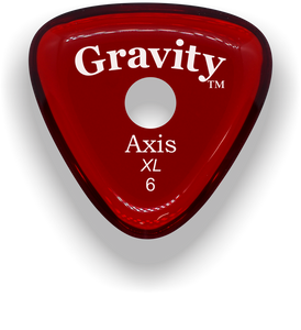 Axis XL 6.0mm Red Single Round Grip Acrylic Guitar Pick Handmade Custom Best Acoustic Mandolin Electric Ukulele Bass Plectrum Bright Loud Faster Speed