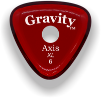 Load image into Gallery viewer, Axis XL 6.0mm Red Single Round Grip Acrylic Guitar Pick Handmade Custom Best Acoustic Mandolin Electric Ukulele Bass Plectrum Bright Loud Faster Speed