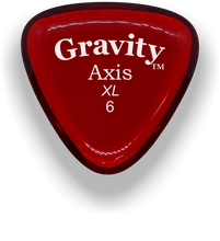 Load image into Gallery viewer, Axis XL 6.0mm Red Acrylic Guitar Pick Handmade Custom Best Acoustic Mandolin Electric Ukulele Bass Plectrum Bright Loud Faster Speed
